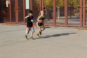 "Suit jacket when running? No problem! Clearly these children at unhappy with being ""forced"" to run."