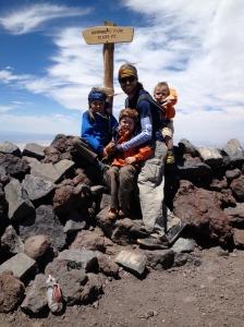 Boys at the summit!
