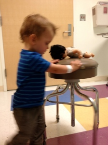 Best part about going to the hospital? You get to play with you sisters baby all night and no one stops you!