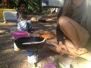 Sometimes you cook for 7 people on a JetBoil, no big deal.