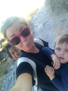 The Babies and I following behind.