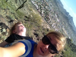 He always gets excited when we are going on a hike and falls asleep within minutes… apparently we aren't very exciting!