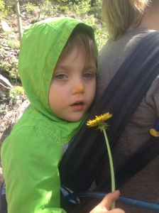 "Oh yes, and my adorable pollen nose little buddy. Best hiking friend ever! Anytime I fall and give a ""shit"" under my breath I'm met with ""ok mommy?"". Love him!"
